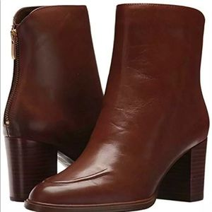 New Aerosoles City Council Leather Boots Brown 12